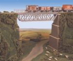 240 Ratio: TRACKSIDE ACCESSORIES  Steel Truss Bridge, with stone piers